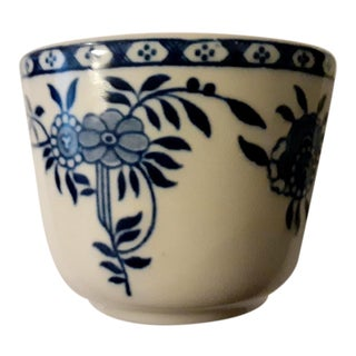 1940's Vintage Porcelain Blue & White Chinese Tea Cup For Sale