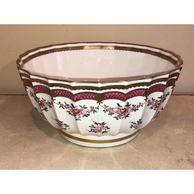 Porcelain De Paris Flower Motif Bowl For Sale - Image 5 of 5