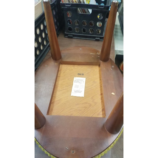Walnut Bissman Danish Modern 6-Drawer Solid Walnut Vanity With Bench For Sale - Image 7 of 13