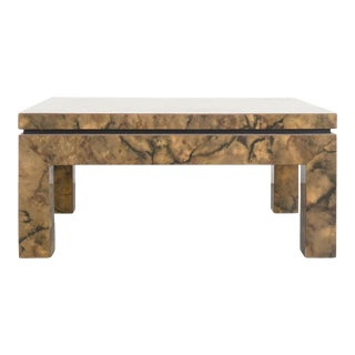 Mid-Century Modern Faux Burl Table For Sale