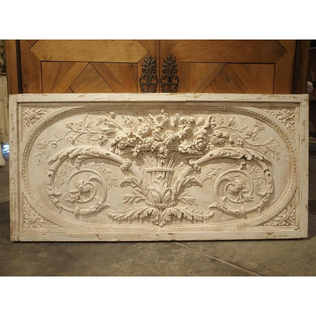 Architectural Plaster and Wood Overdoor Panel From Provence, France For Sale - Image 9 of 9