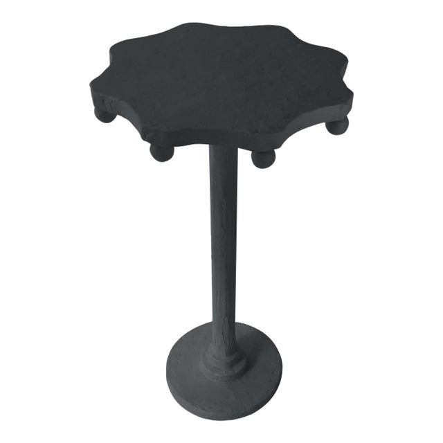 Contemporary Teatro Accent Table in Ebony King For Sale - Image 3 of 3