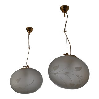 Pair of Swedish Adjustable Pendants With Floral Motif