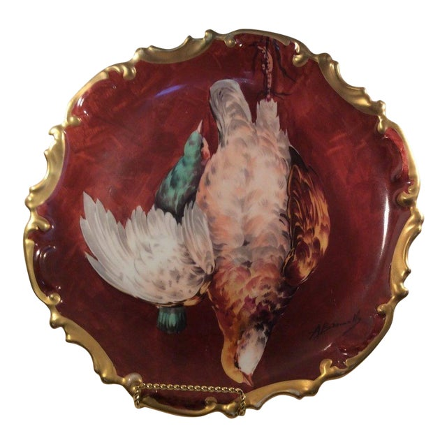 Coronet Limoges France Hand Painted Game Bird Plate Charger Signed A ...