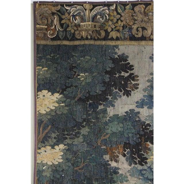 Blue Flemish Verdure Tapestry For Sale - Image 8 of 10