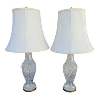 Waterford Crystal Table Lamps - a Pair For Sale