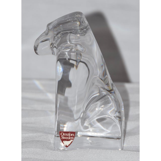"""1900 - 1909 Orrefors Sweden Crystal Gorilla Paperweight Figurine """"Bob Hope Classic Mark"""" For Sale - Image 5 of 7"""