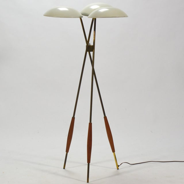 Gerald Thurston Tripod Floor Lamp by Lightolier For Sale - Image 10 of 10