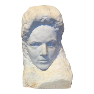 Late 19th Century Marble Carved Bust For Sale