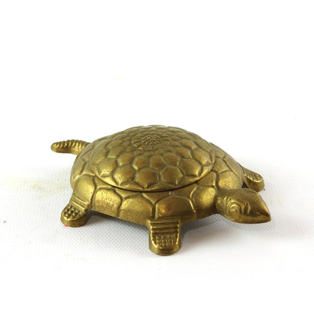 Vintage Brass Turtle Trinket Box For Sale - Image 4 of 6