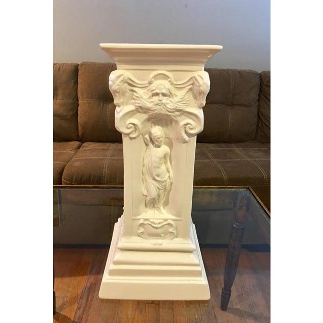 Vintage White Greek Pedestal Column - Image 2 of 7