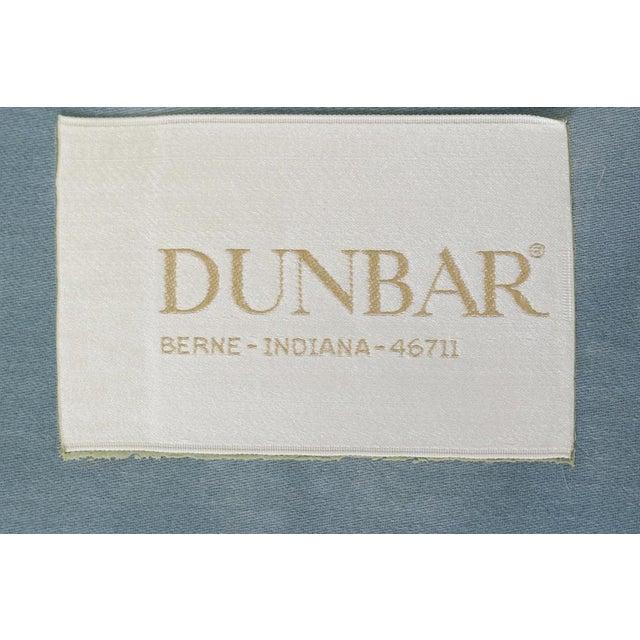 Metal 1960s Dunbar Velvet Tuxedo Sofa on Chrome Base, Edward Wormley For Sale - Image 7 of 9