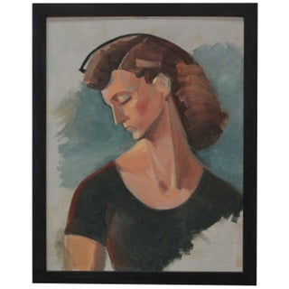 Original Painting of a Woman by Ruth Hilts For Sale