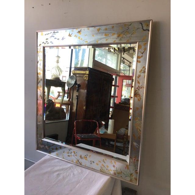 Mid-Century Modern La Barge Floral Silver Leaf Mirror For Sale - Image 3 of 9