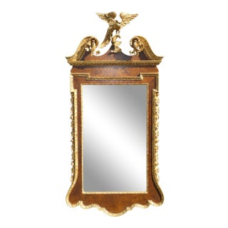 Vintage Federal Eagle Style Wall Mirror W Phoenix Motif Made in Italy ~ La Barge For Sale