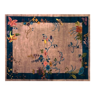 "1920s Chinese Art Deco Rug 8'10""x11'4"" For Sale"