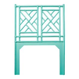 Chippendale Headboard Twin - Turquoise For Sale