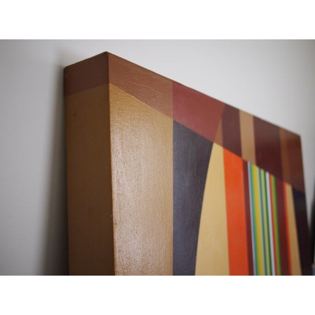 1970s 1972 Original Vintage Jervis Abstract Mid-Century Modern Hard Edge Oil on Canvas Painting For Sale - Image 5 of 7