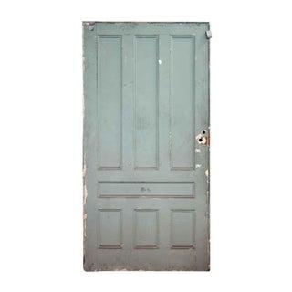Light Green Seven Panel Oak Pocket Door