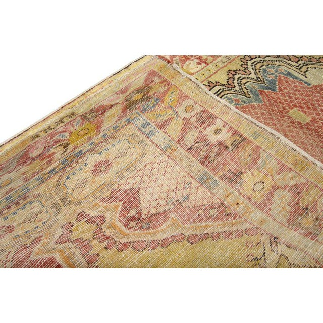 Textile 20th Century Turkish Oushak Accent Rug For Sale - Image 7 of 8