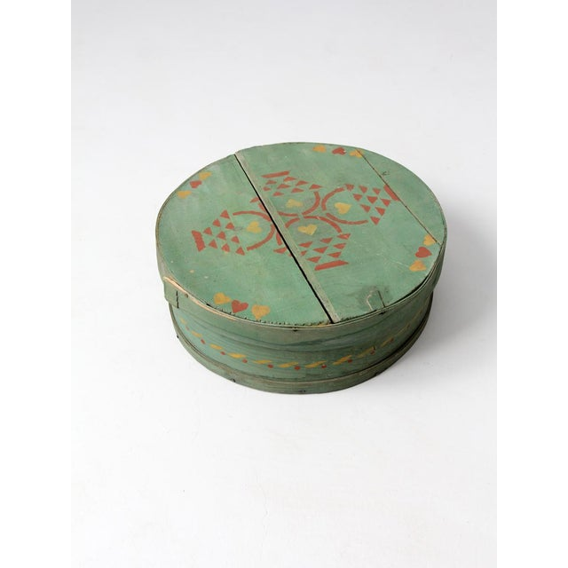 Antique Painted Band Box - Image 2 of 8