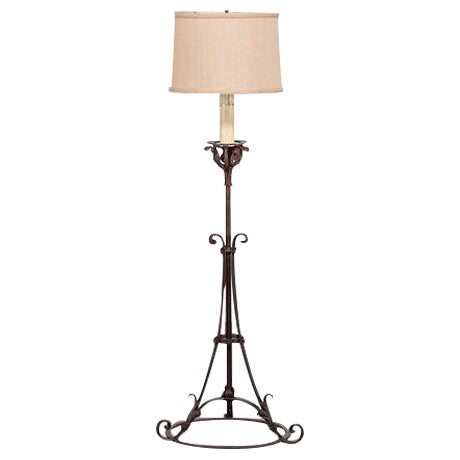 High end antique french forged iron candle stand floor lamp circa high end antique french forged iron candle stand floor lamp circa 1900 decaso mozeypictures Image collections