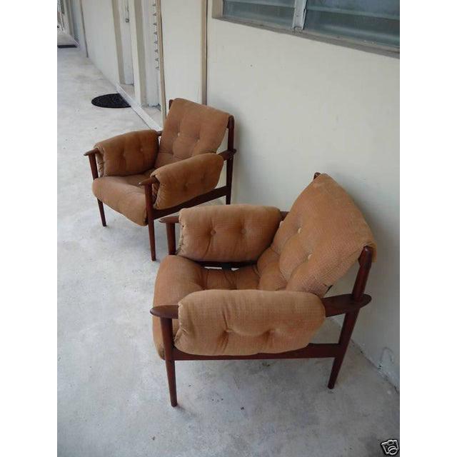 1950's Vintage Greta Jalk & Poul Jeppesen Chairs- A Pair For Sale - Image 9 of 11