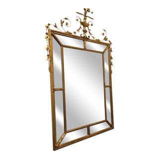 """Friedman Brothers Gold Gilt Louis XVI Beveled Mirror """"The Dorset-Cromwell"""" For Sale"""