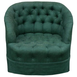 James Mont Attributed Tufted Armchair For Sale