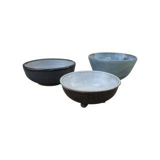 Studio Pottery Bowls - Set of 3