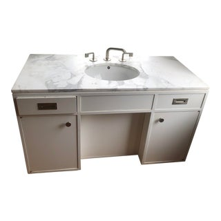 Modern Waterworks Sink/Vanity Fixture For Sale