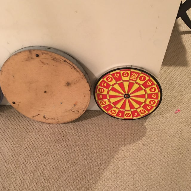 Yellow Vintage Dartboards - Set of 6 For Sale - Image 8 of 11