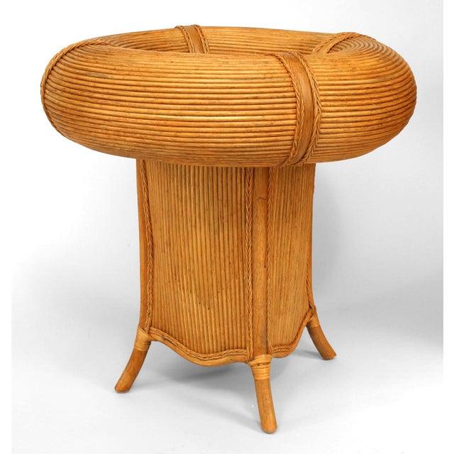 Italian Italian Rattan Open Center Café Table For Sale - Image 3 of 3