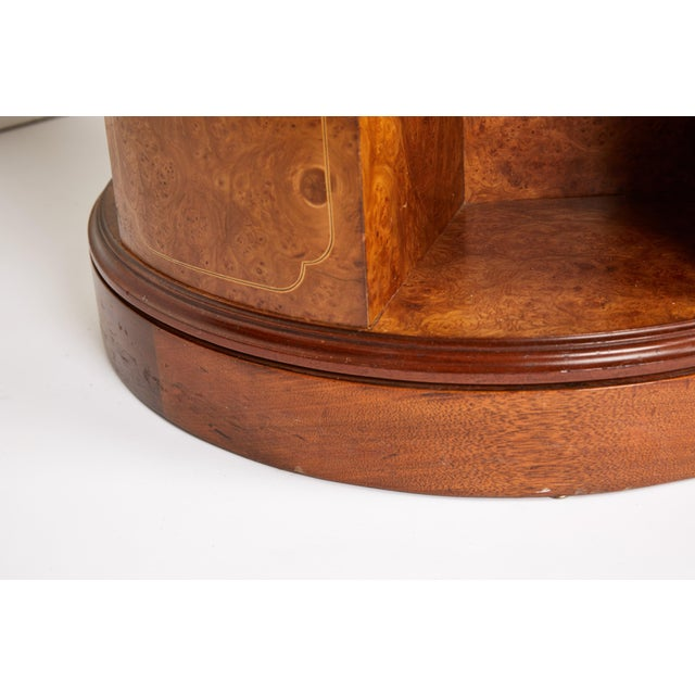 Black Revolving Circular Library Bookcase of Bird's-Eye Maple For Sale - Image 8 of 12