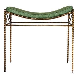 Gilded Italian Vanity Bench For Sale