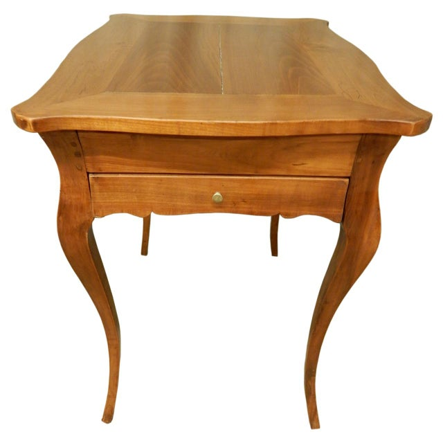Brown Louis XV Provincial Fruitwood Sidetable For Sale - Image 8 of 8