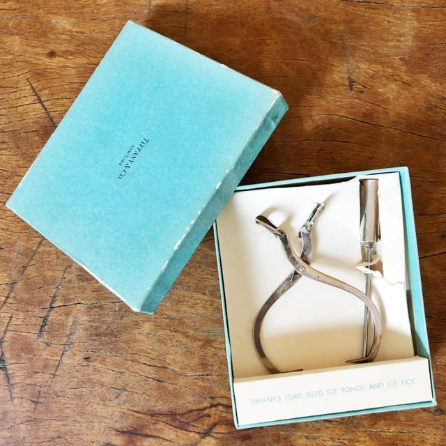 1950s Tiffany & Co Sterling Silver Ice Tongs and Pick - a Pair For Sale - Image 11 of 11