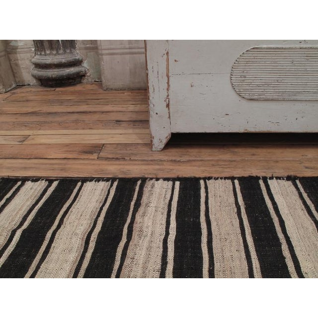 Traditional Banded Kilim in Three Panels For Sale - Image 3 of 7