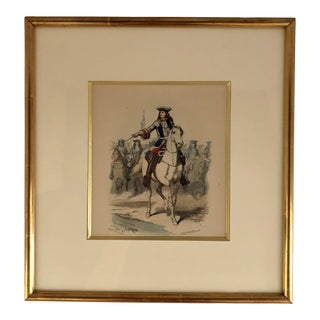 19th Century Traditional Watercolor Engraving For Sale