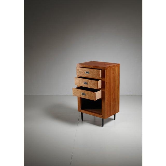 Mid-Century Modern Jean Touret oak cupboard for Marolles, France, 1970s For Sale - Image 3 of 5