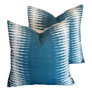 Peter Dunham Ikat Pillow Pair For Sale