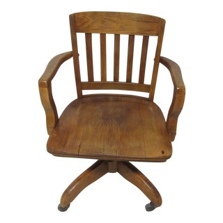 Vintage Oak Desk Chair