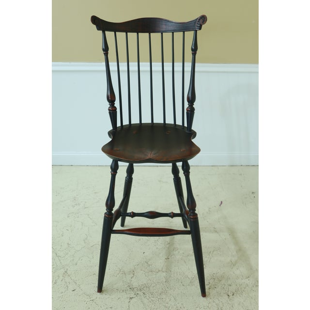 Item: 49183EC: Pair Windsor Style Fan Back Windsor Bar Or Counter Chairs Age: Approx: 20 Years Old Details: High Quality...