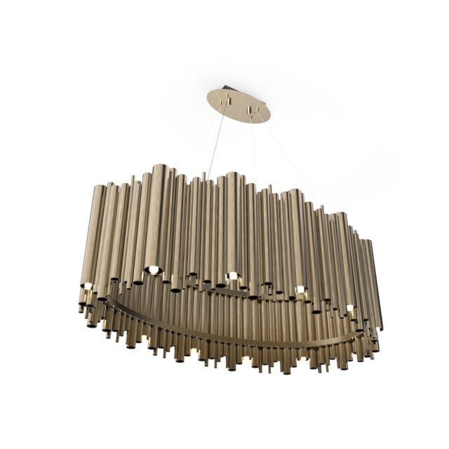 Brubeck mid-century modern chandelier is inspired by one of the foremost exponents of cool jazz: Dave Brubeck. This unique...