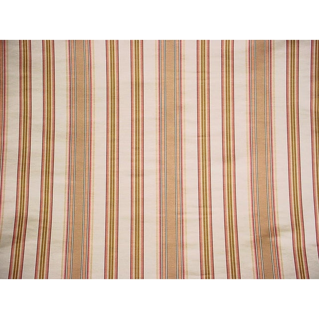 Traditional Traditional Lee Jofa Margaux Stripe Camel / Petal Silk Linen Upholstery Fabric - 9y For Sale - Image 3 of 5