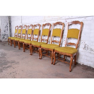 Baker Furniture French Country High Back Dining Chairs, Set of Eight Preview