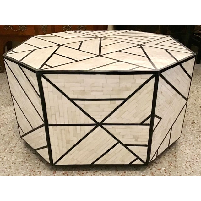 Modern Modern Tessellated Bone Inlay Geometric Coffee Table For Sale - Image 3 of 11