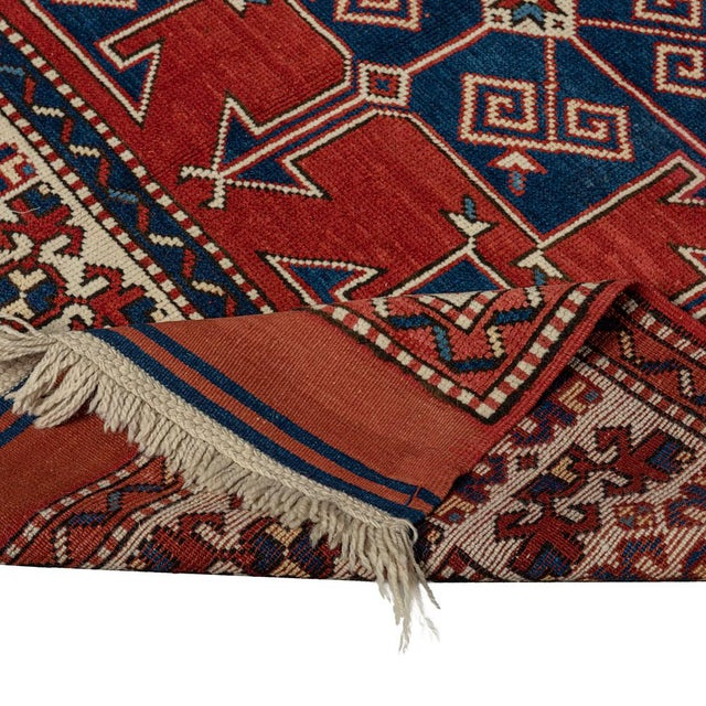 Vintage Red Turkish Area Rug 4'x6' For Sale - Image 4 of 5