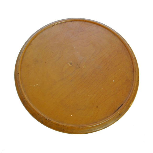 Vintage Lazy Susan with Golden Ceramic Leaf Dishes - Image 4 of 5