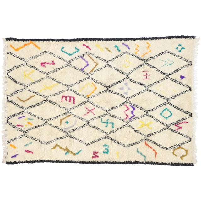 Moroccan Contemporary Berber Azilal Rug - 06'01 X 09'01 For Sale - Image 9 of 10